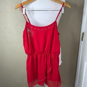 Britney Spears Candie's One Piece Dress Red Med